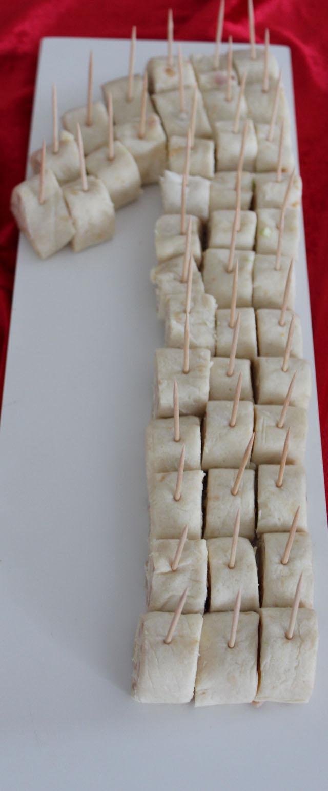 Tortillarúllur með beikonosta og skinkufyllingu